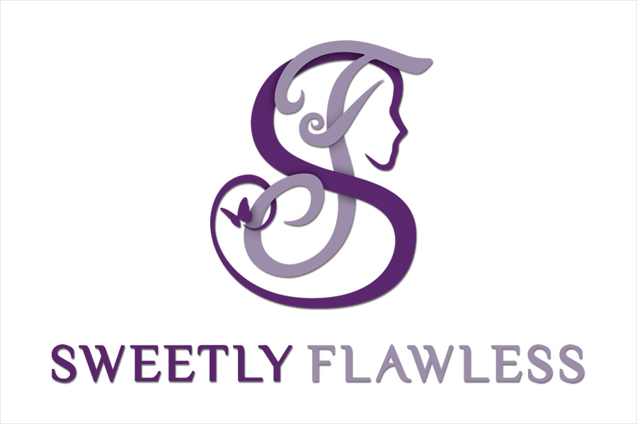 graphic design Sweetly Flawless Logo